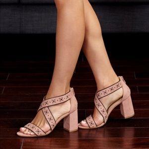 Taupe CL Biz Block Heel